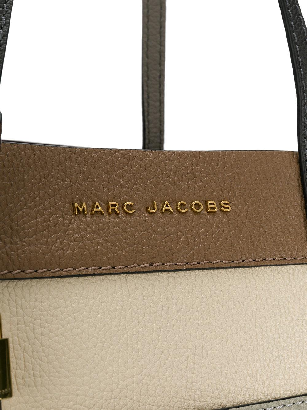 Marc Jacobs Leather The Grind Shopper Tote in Brown