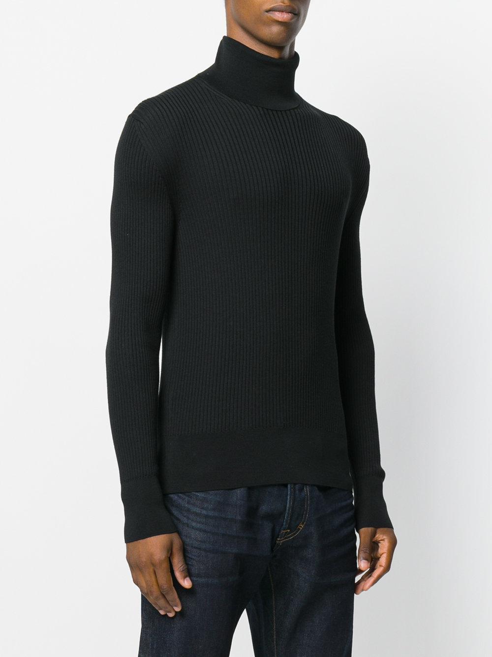 tom ford ribbed turtleneck jumper in black for men lyst. Black Bedroom Furniture Sets. Home Design Ideas
