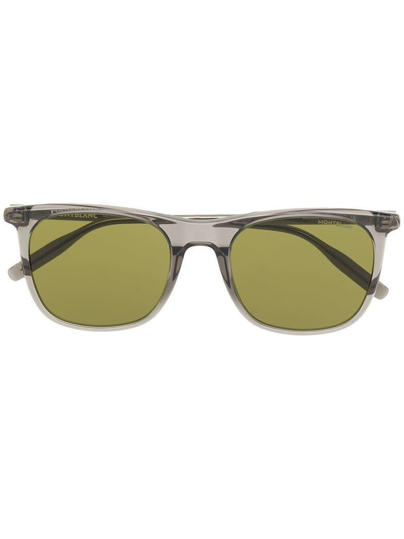11d81780dc9fa Montblanc Clear Frame Sunglasses in Gray for Men - Lyst