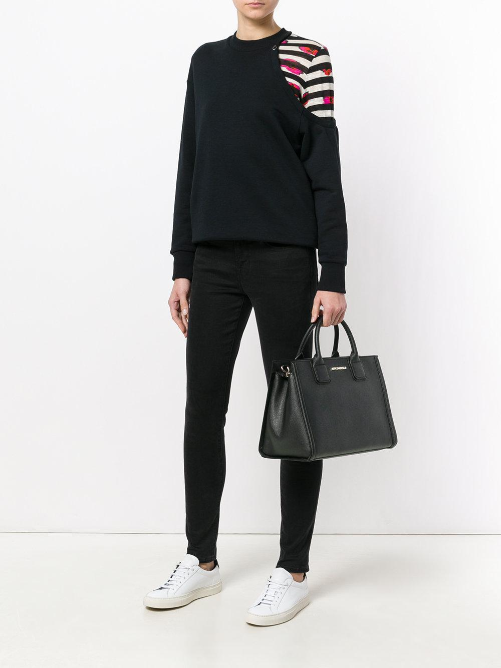 Karl Lagerfeld Leather Classic Tote in Black