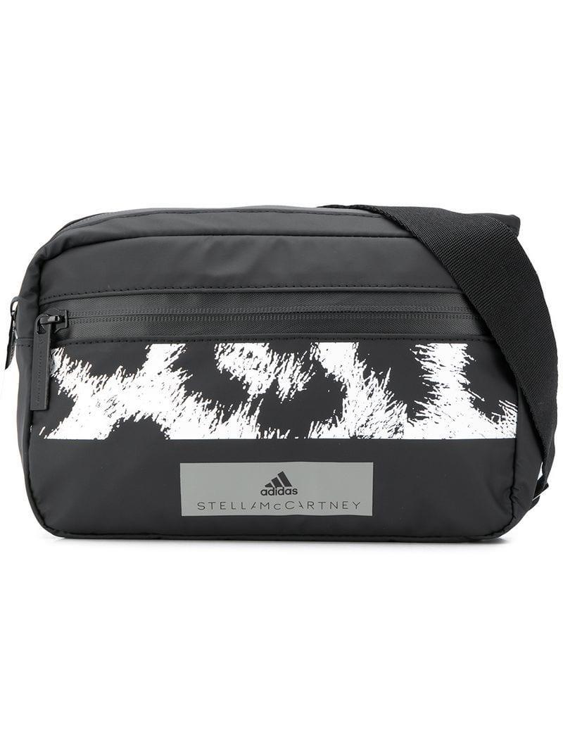 68007daca2a2 Lyst - adidas By Stella McCartney Leopard Print Belt Bag in Black