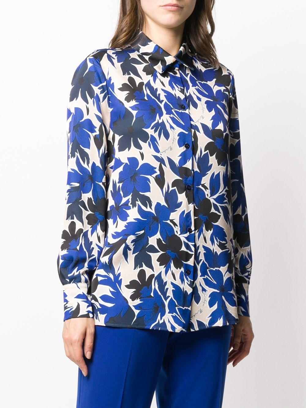 Blouse à fleurs Boutique Moschino en coloris Bleu
