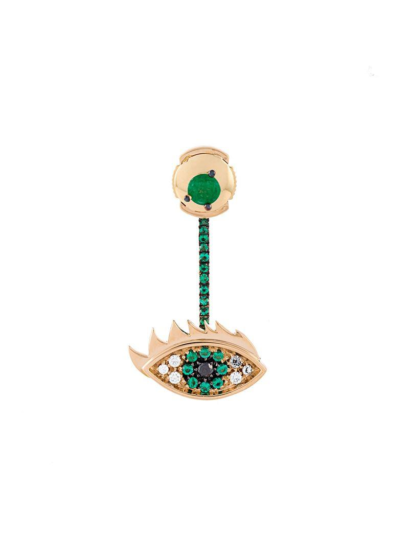 Delfina Delettrez Eyes on me diamond and saphire necklace - Metallic 2njqKSok