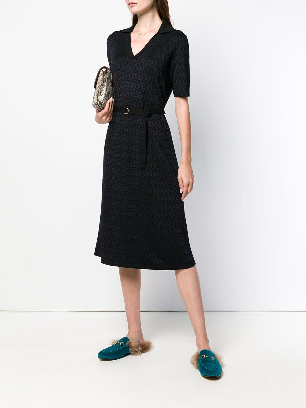 613dc77c180 Tory Burch - Black Jacquard Dress - Lyst. View fullscreen