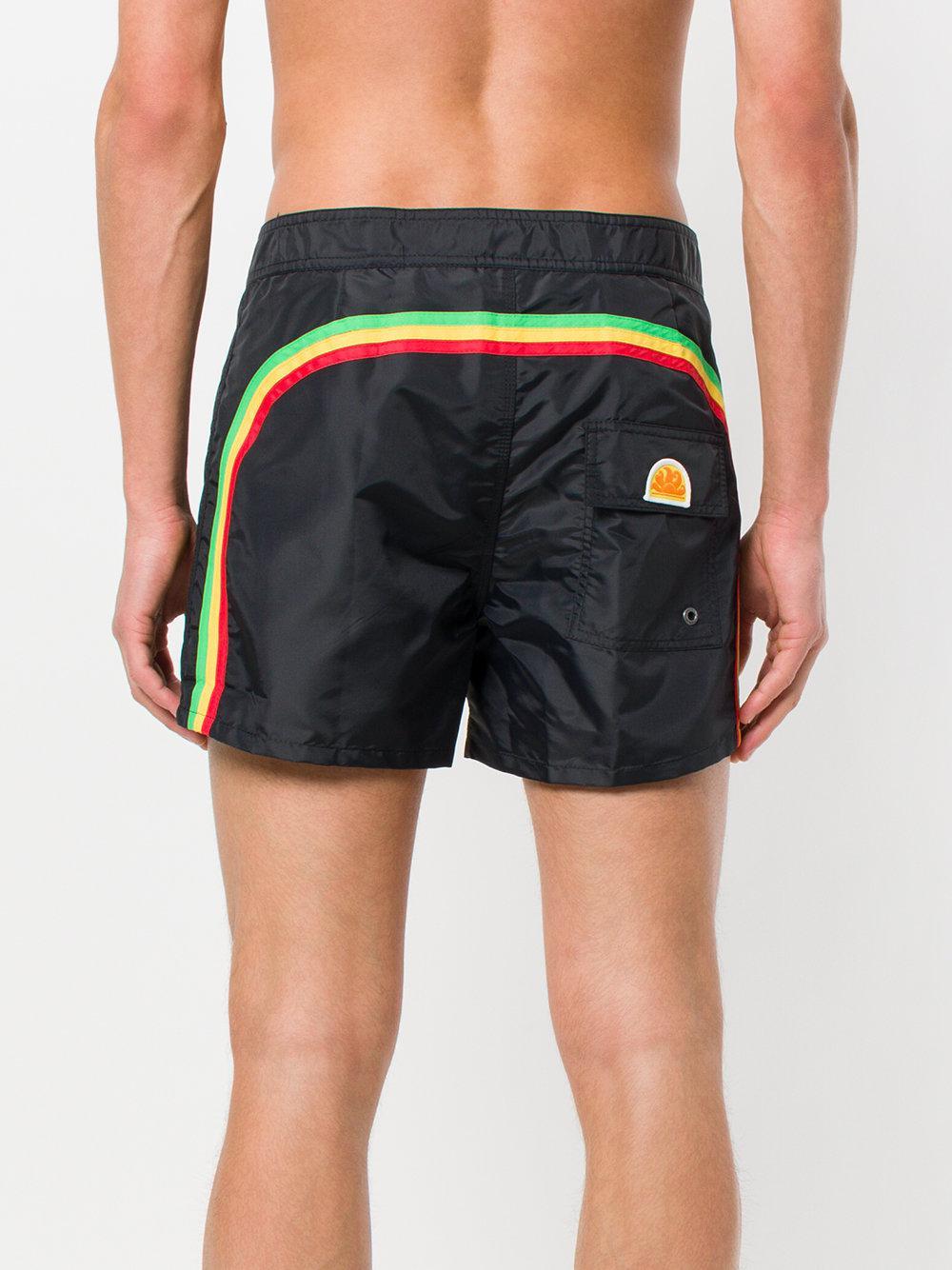 ff7205637a Short de bain à logo Palm Angels pour homme en coloris Noir - Lyst