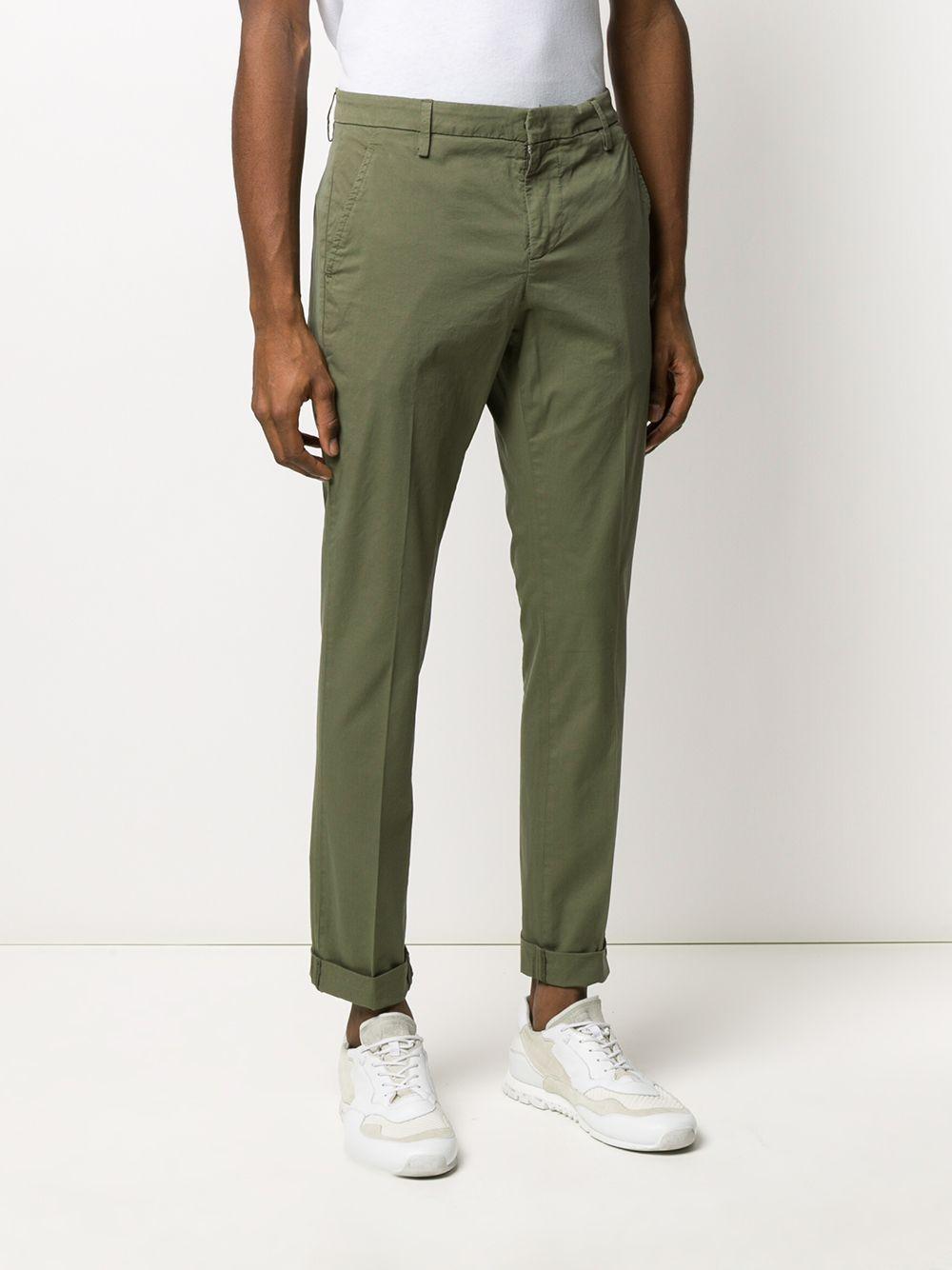 Dondup Katoen Slim-fit Pantalon in het Groen voor heren