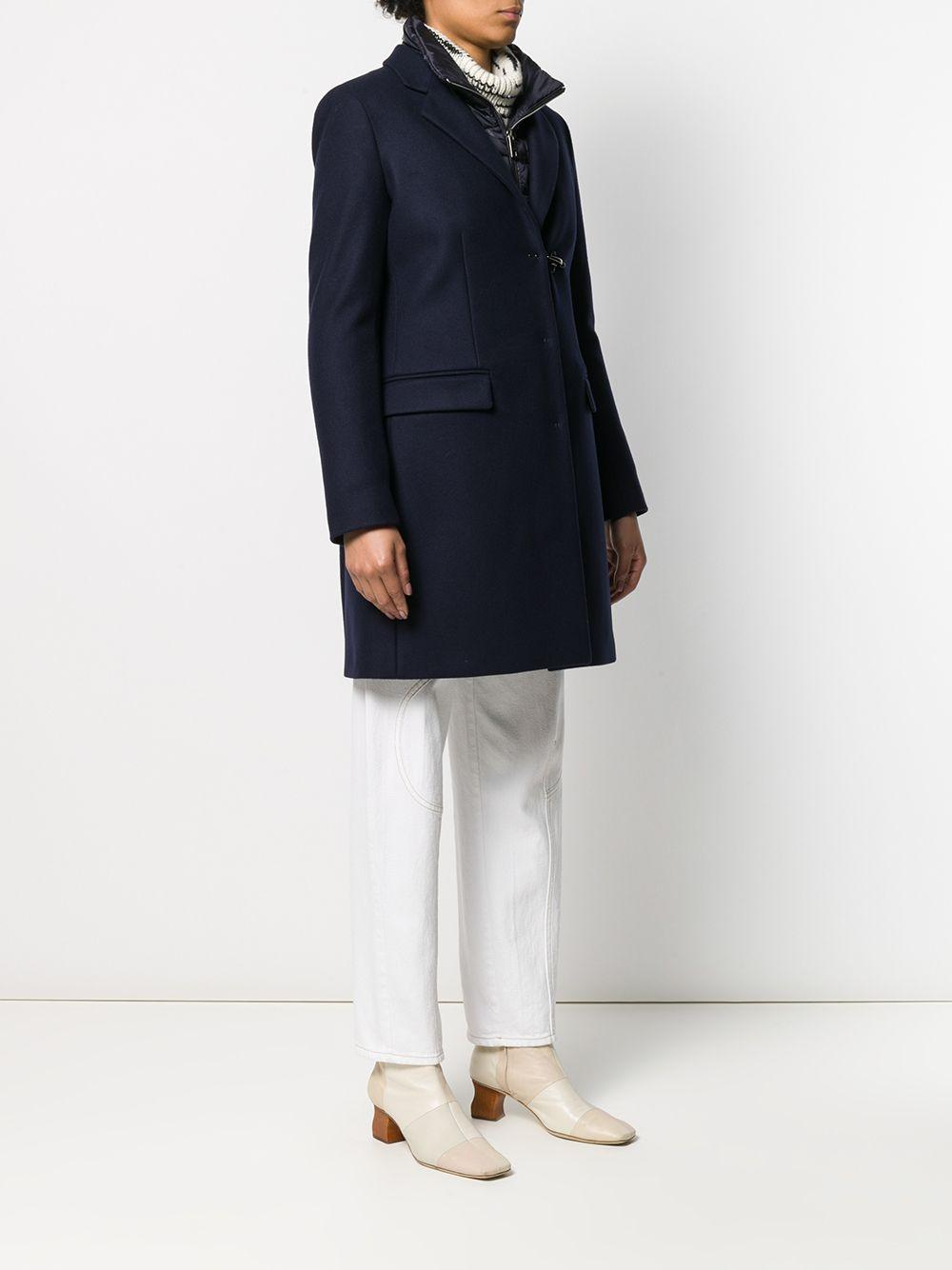 Manteau à design superposé Laines Fay en coloris Bleu 5MPRt