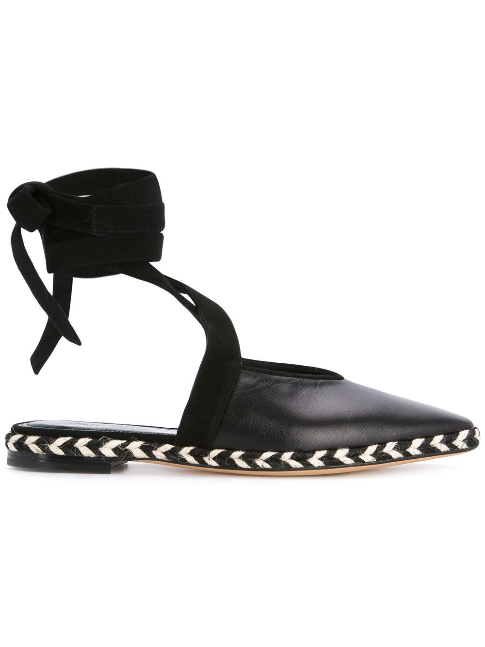 JW Anderson Leather Mules in Black - Lyst
