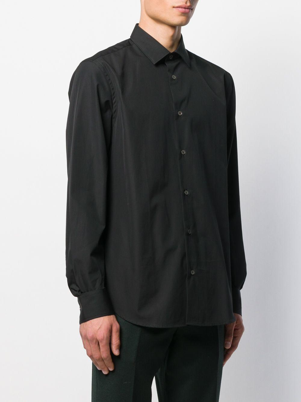 Paul Smith Katoen Popeline Overhemd in het Zwart voor heren