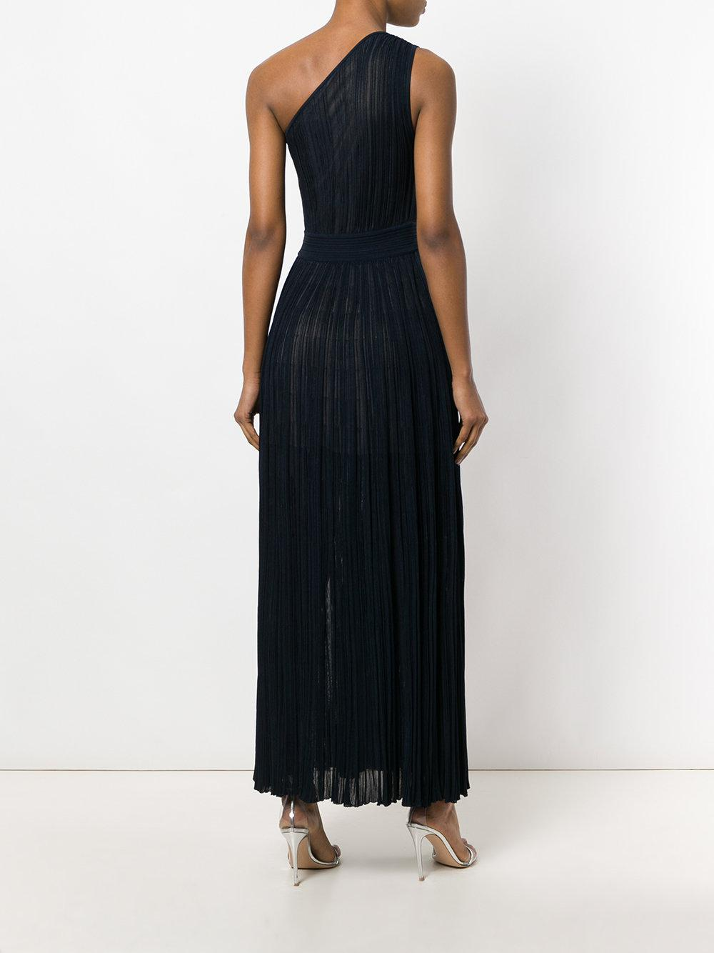 Lyst - Antonino Valenti One-shoulder Jersey-knit Gown in Blue