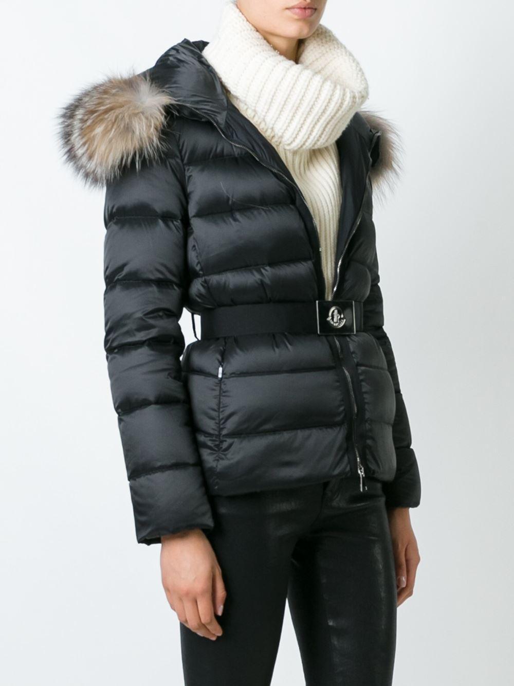 Lyst - Moncler 'tatie' Padded Jacket in Black