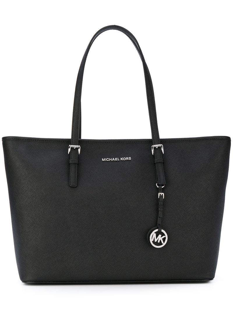 MICHAEL Michael Kors Leather Classic Tote in Black