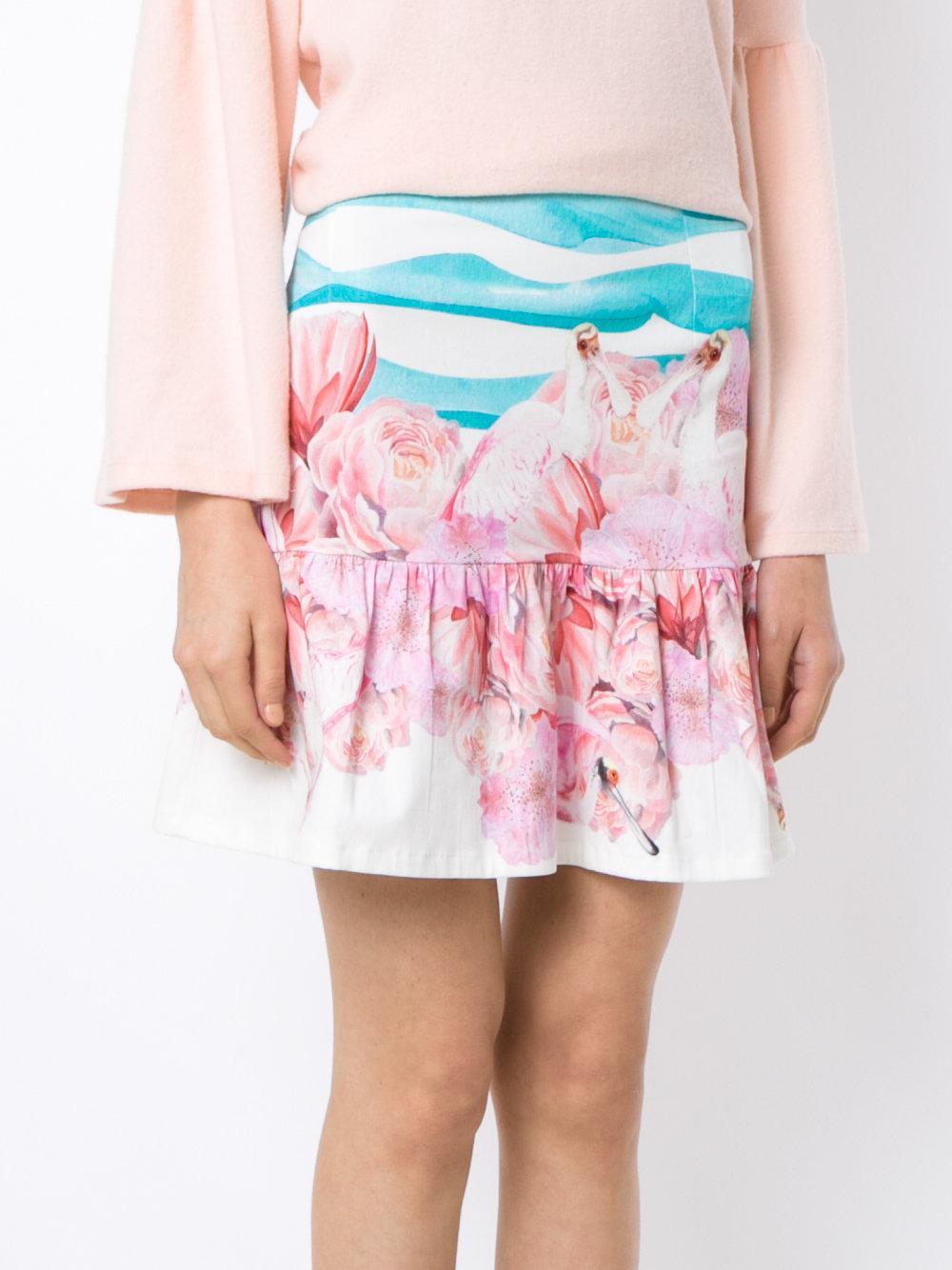 Printed skirt Isolda de Algodón de color Azul