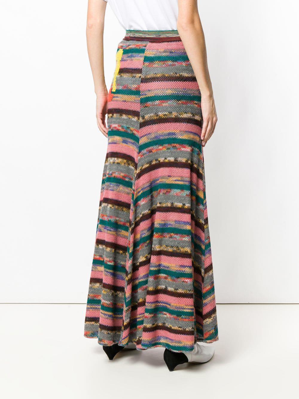 Missoni - Pink Long Patchwork Skirt - Lyst. View fullscreen a7461614672ff