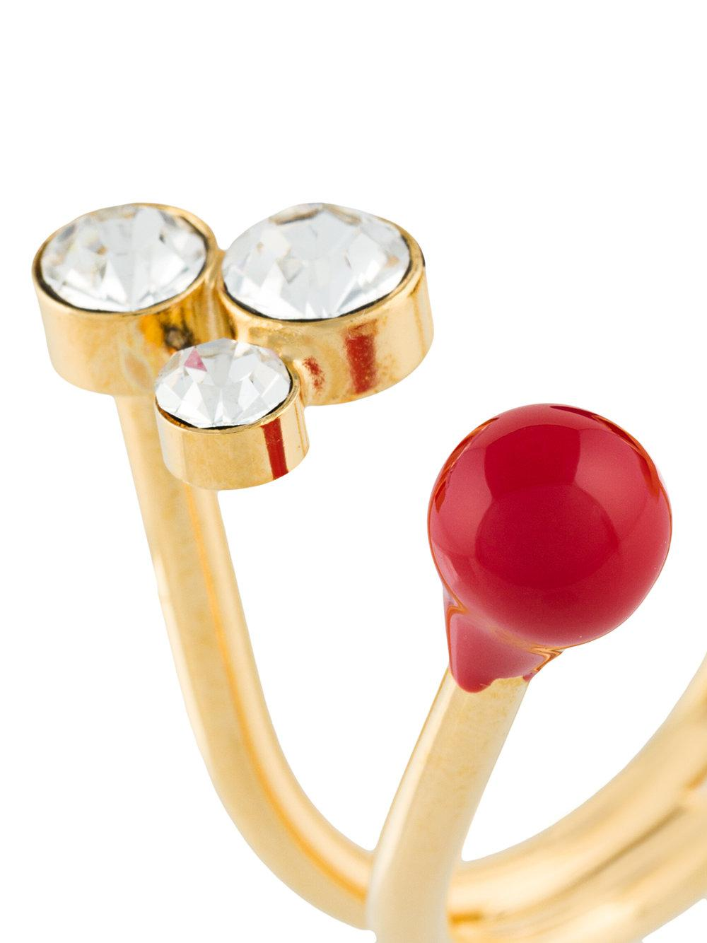 Marni Assorted Stone Ring in Red