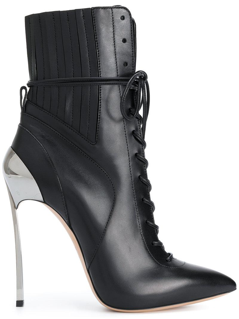 Lyst Casadei Techno Blade Lace Up Ankle Boots In Black