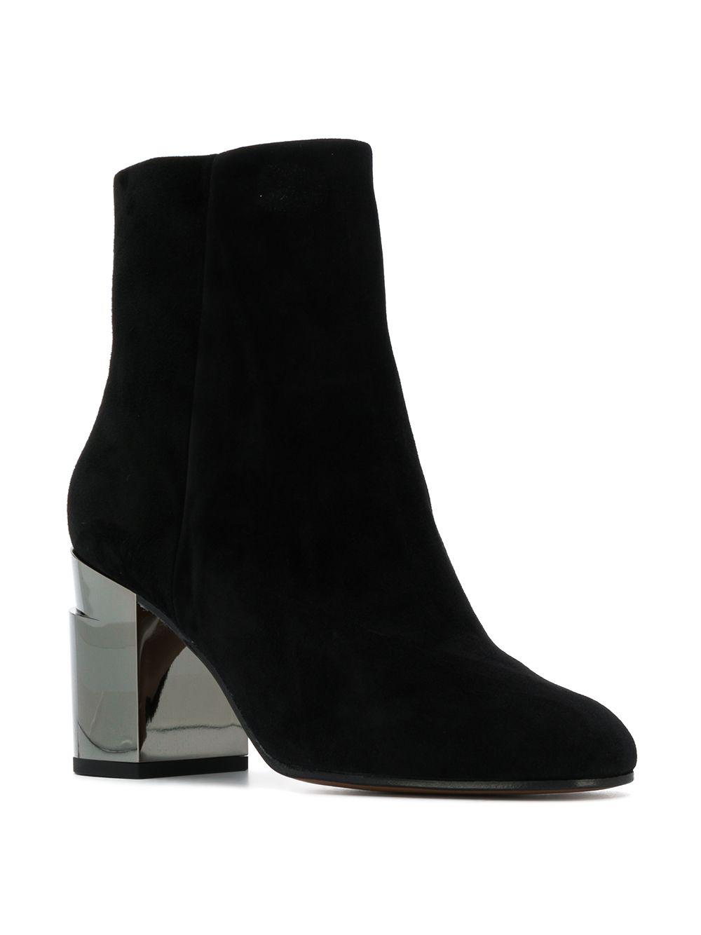 Clergerie Suede Keyla Ankle Boots in Black