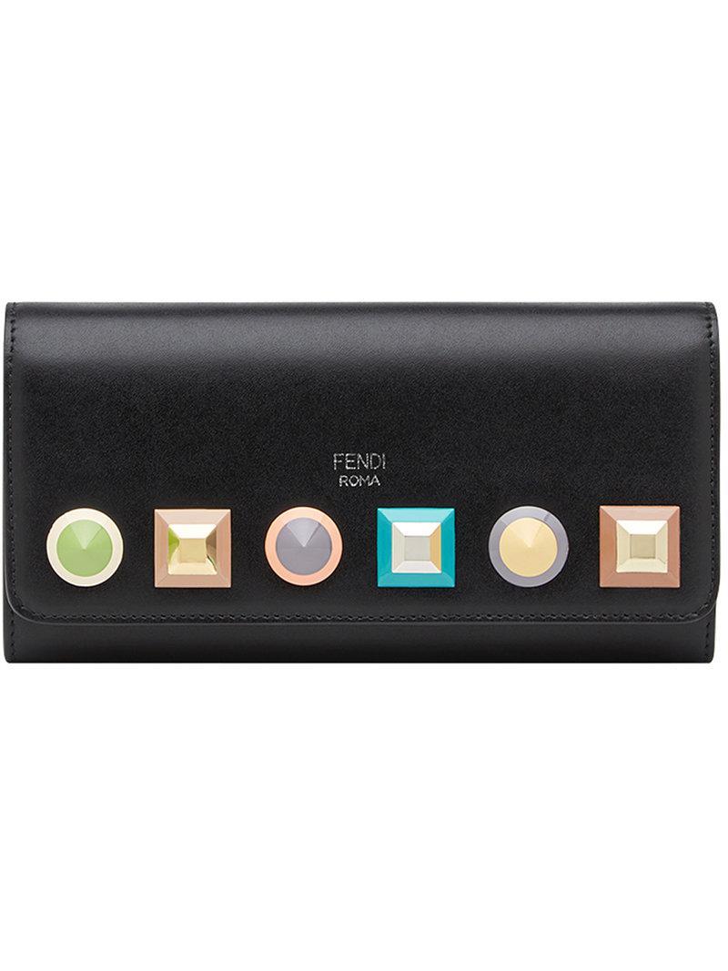 Lyst - Portefeuille à chaîne Fendi en coloris Noir 977deb8f5b0