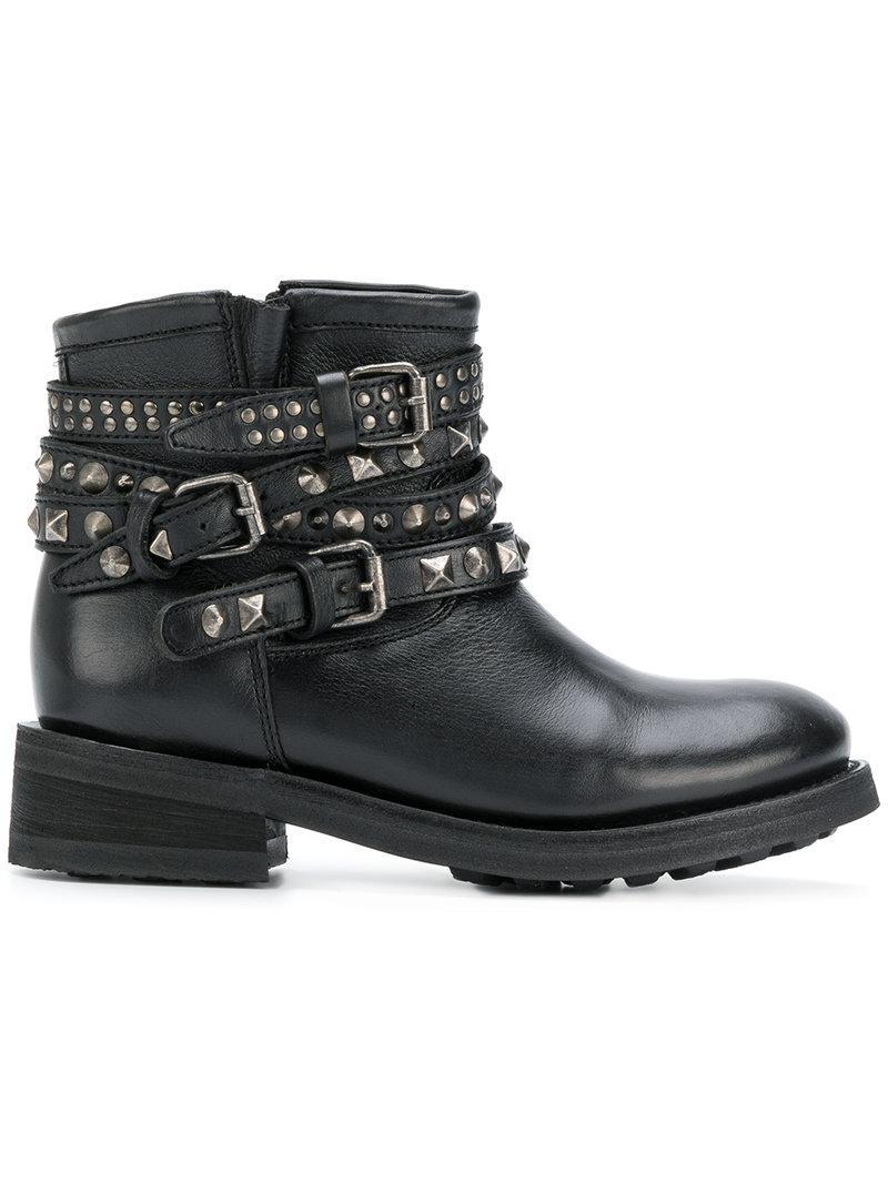 Brand New Unisex For Sale Ash Studded buckle strap boots Big Discount Online FsTlrnphD