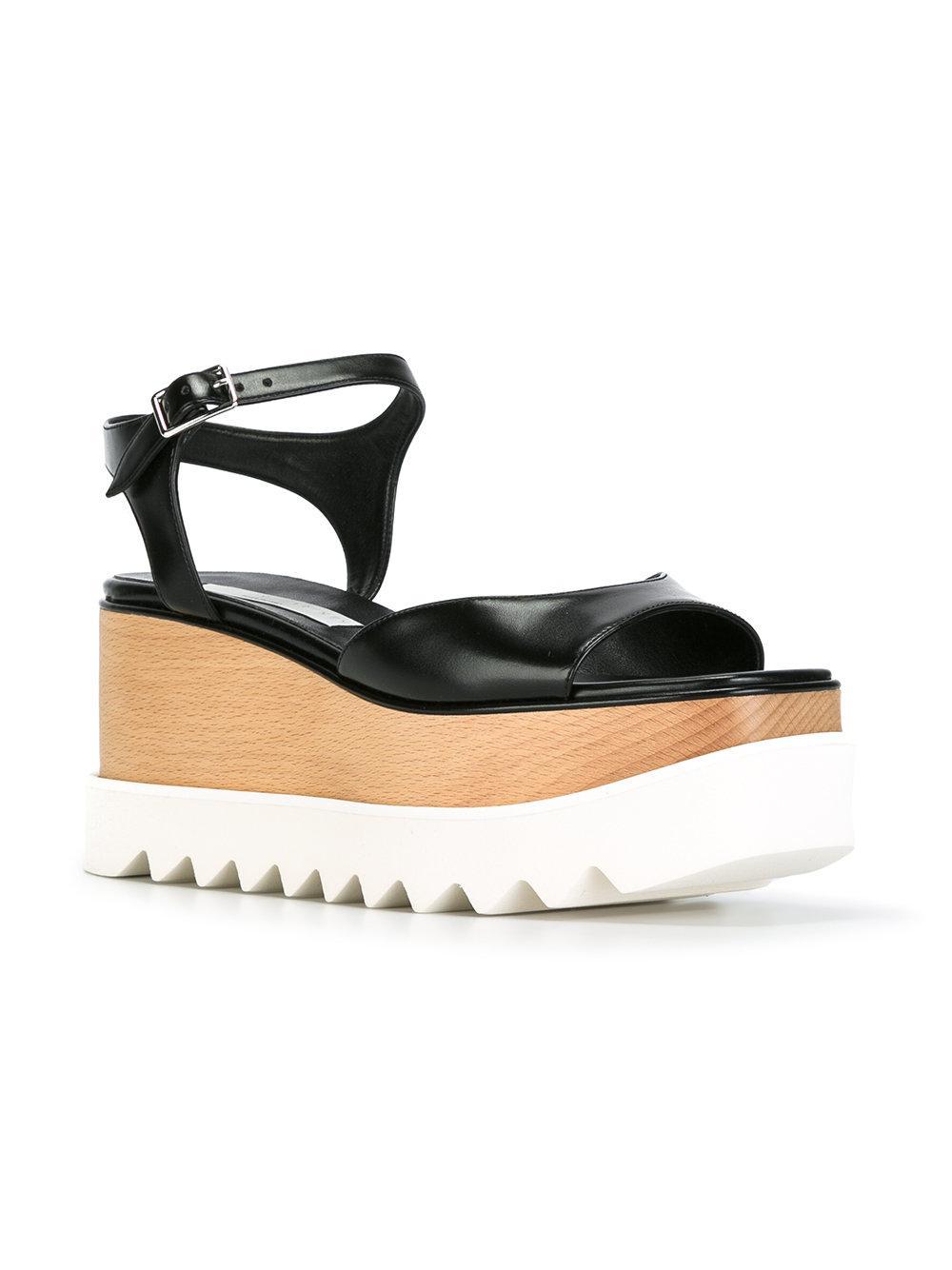 d7a2f4f4197b Lyst - Stella Mccartney Elyse Sandals in Black - Save 50.050251256281406%