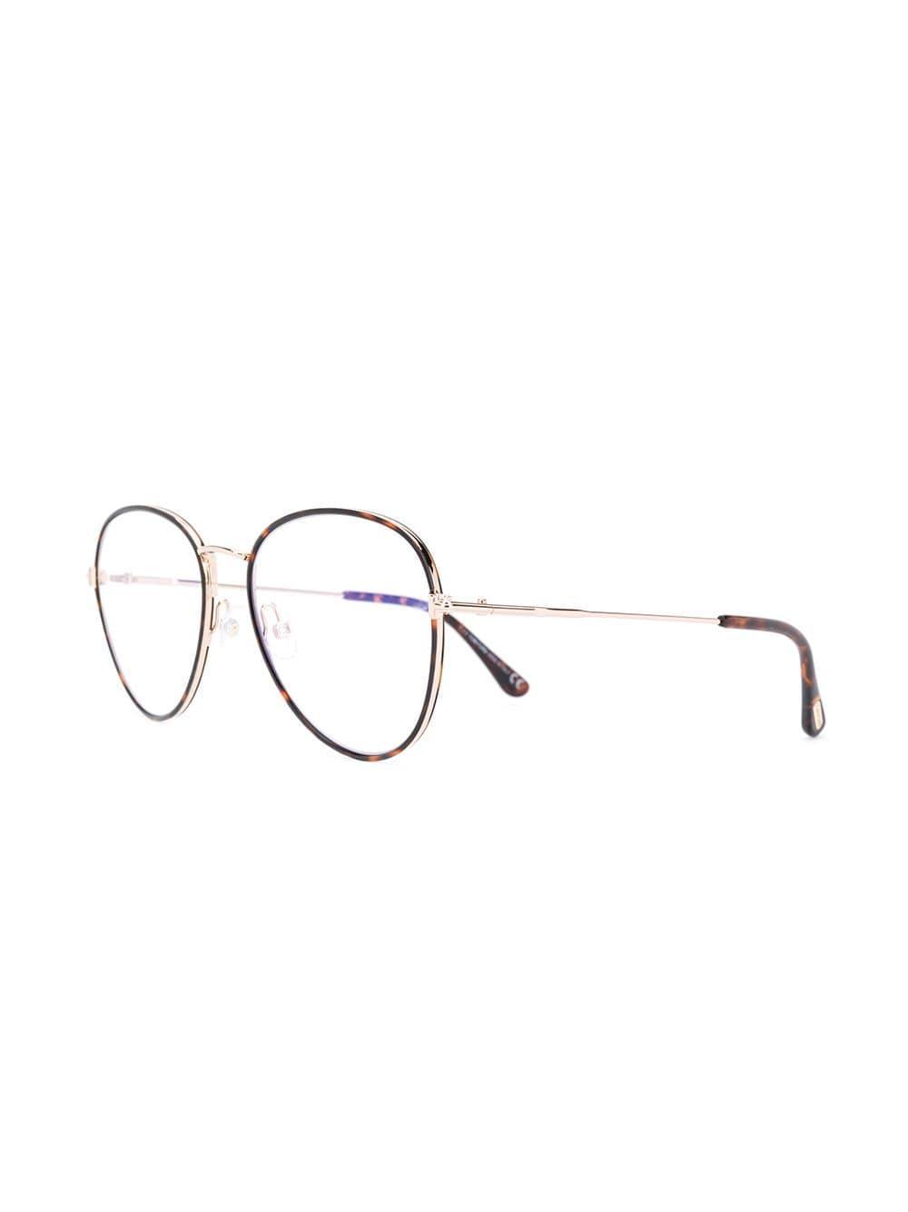 772c8a79ded4 Tom Ford Tortoiseshell Thin Frame Glasses in Brown - Lyst