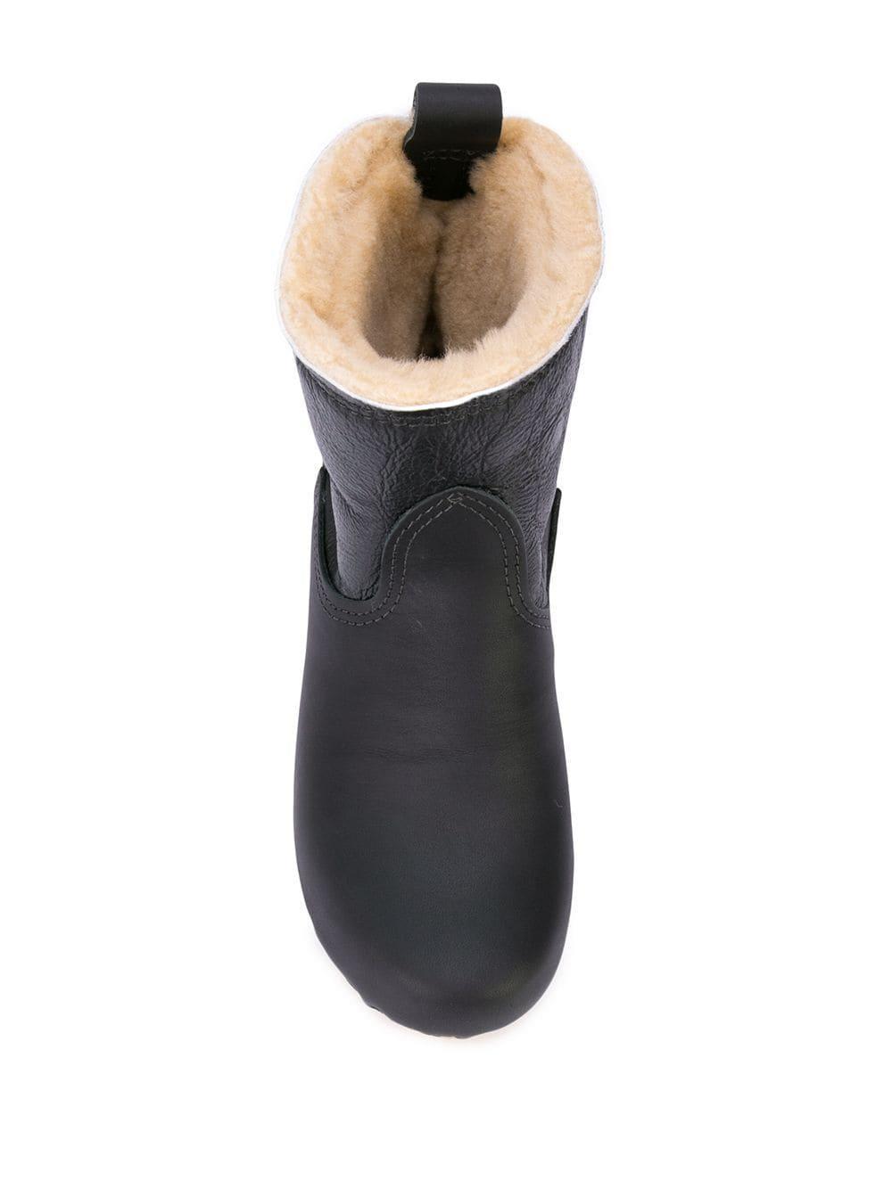 Botas estilo pull-on con forro de borrego No. 6 de Cuero de color Negro