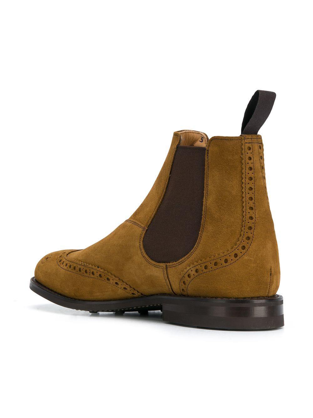 673479f5e0 Lyst - Botas de vestir Chelsea Church s de hombre de color Marrón