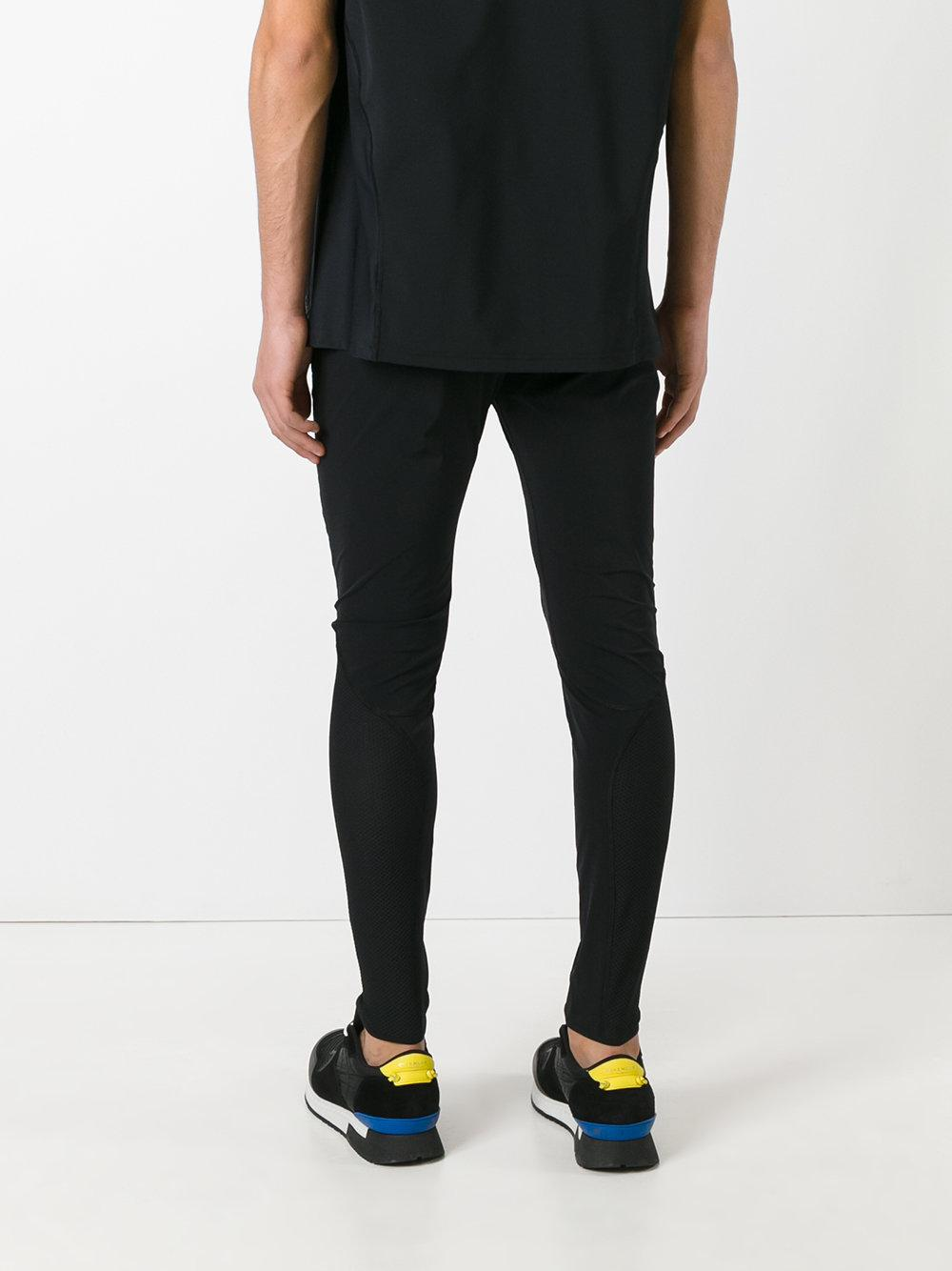 Versace Synthetic Skinny Side Logo Track Pants in Black for Men
