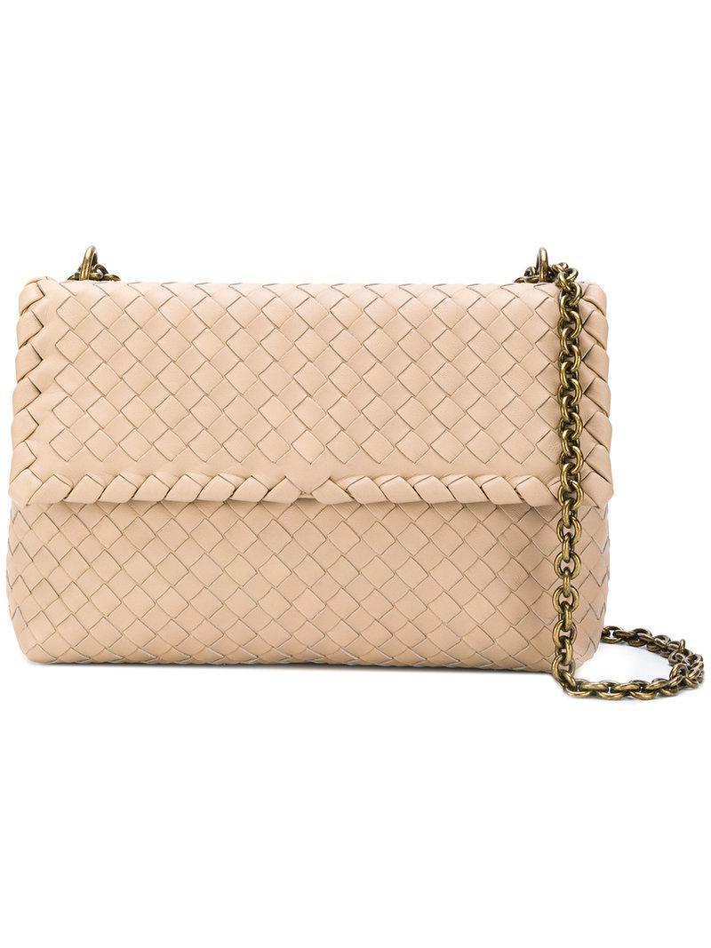 Bottega Veneta Olympia Intrecciato Shoulder Bag in Natural - Lyst a3858968d8dda