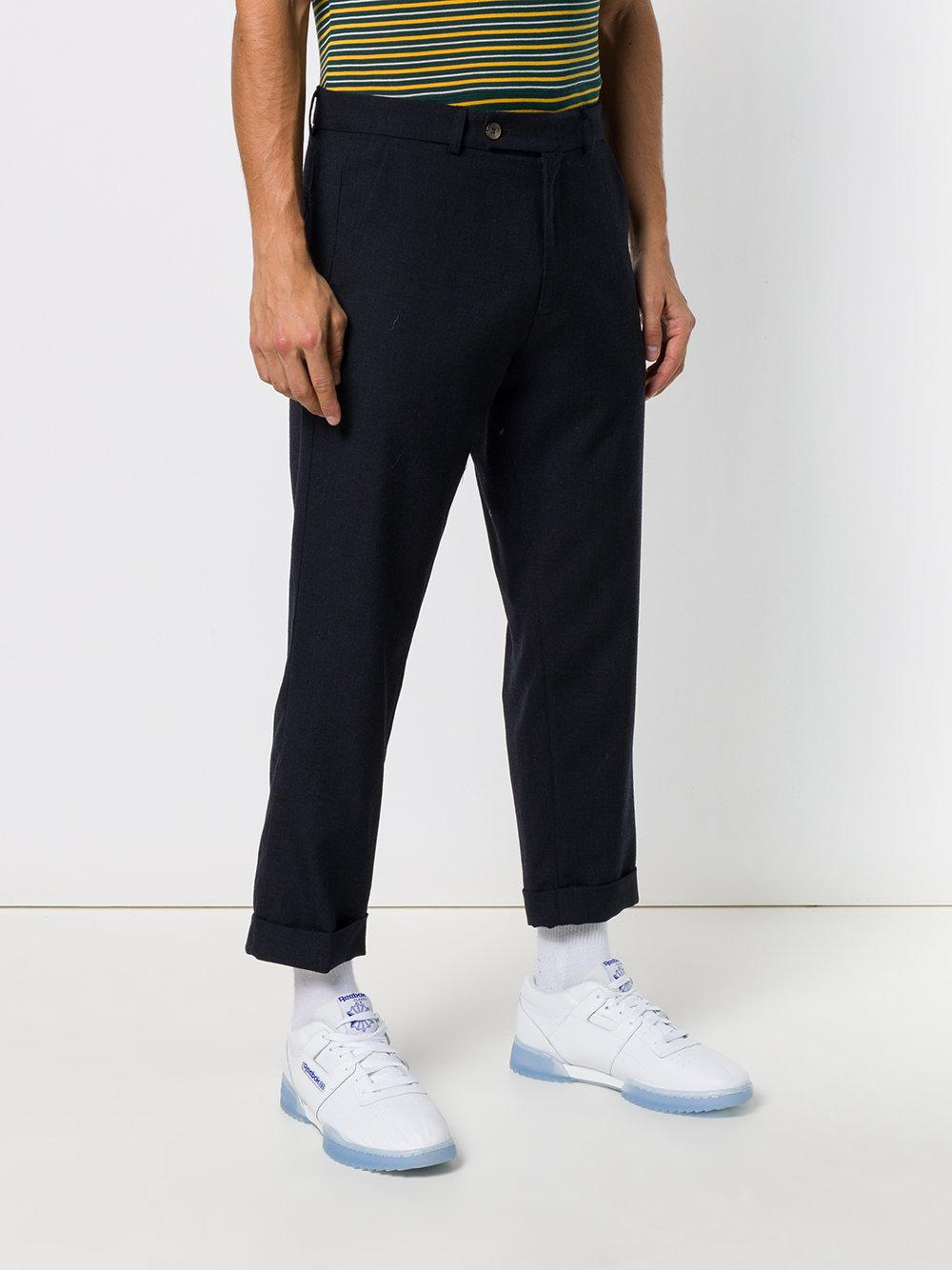 Societe Anonyme Wool 60 Winter Trousers in Blue for Men