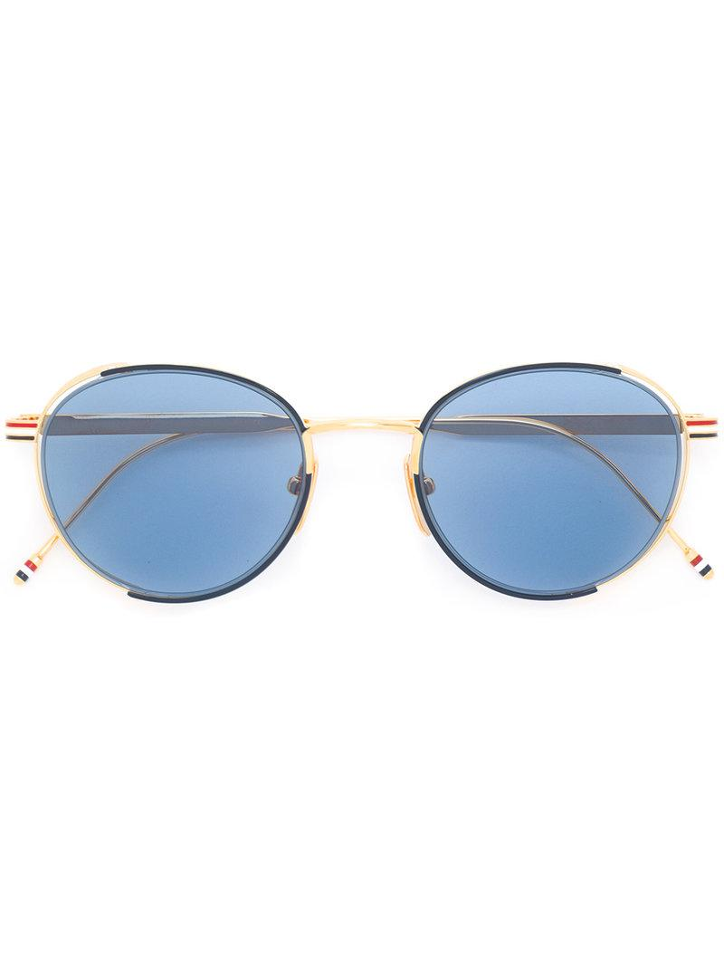 51fe87b0d6 Lyst - Thom Browne Tb 106 C Sunglasses in Blue