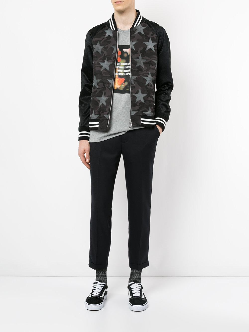 Guild Prime Cotton Star Print Jacket in Black for Men