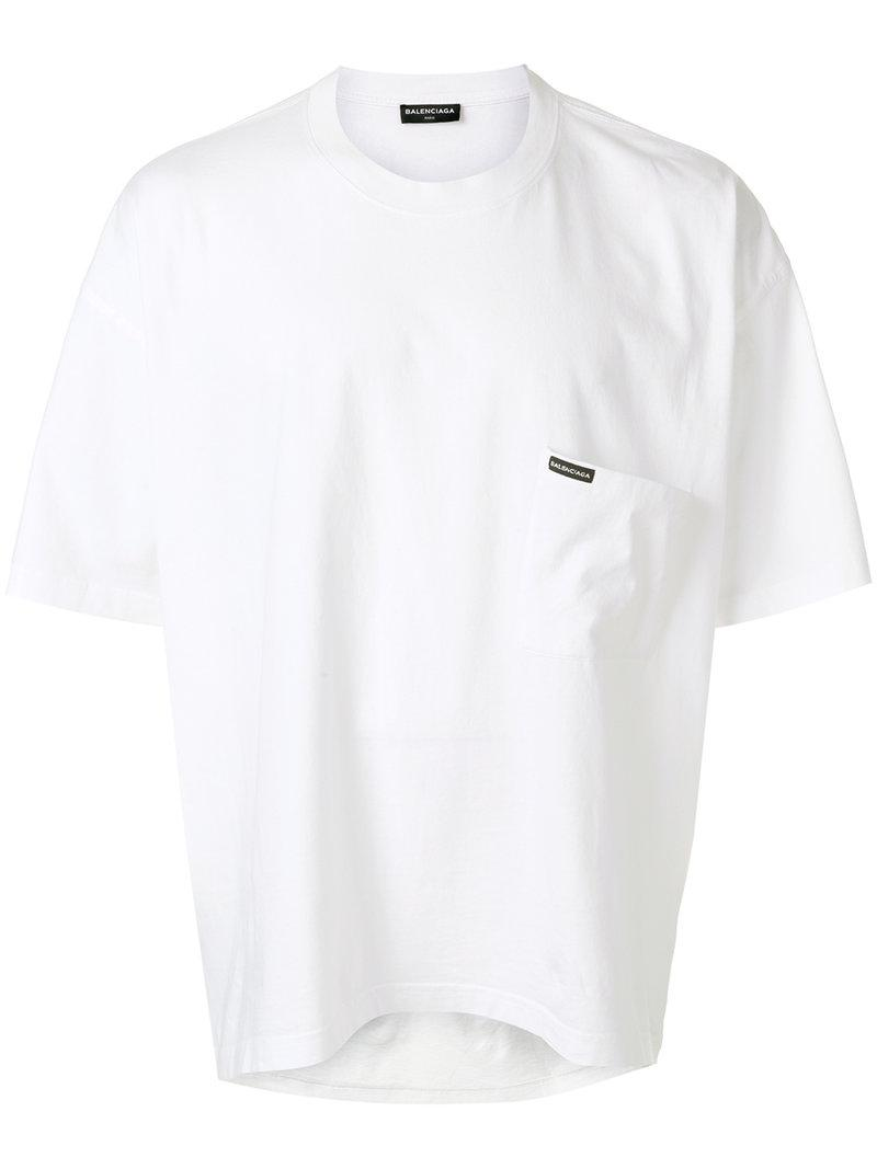 00b75094e570 Balenciaga Oversized Droopy T-shirt in White for Men - Lyst