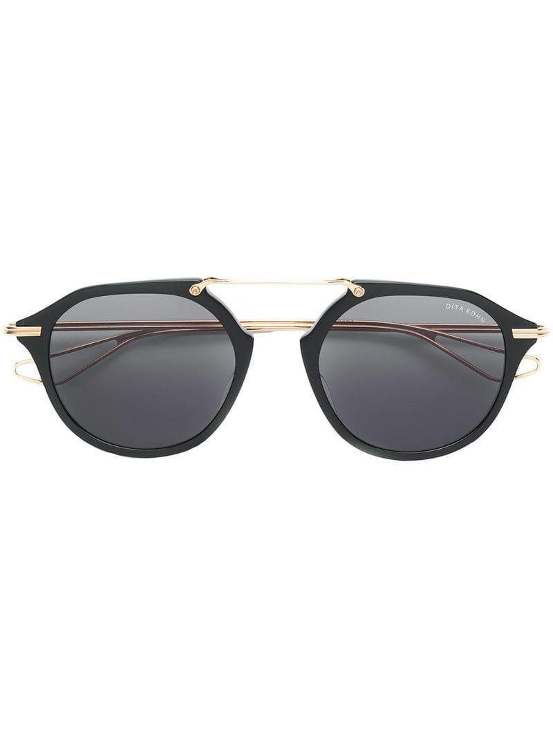 00a8aed26d00 Dita Eyewear Round Frame Sunglasses in Black - Lyst