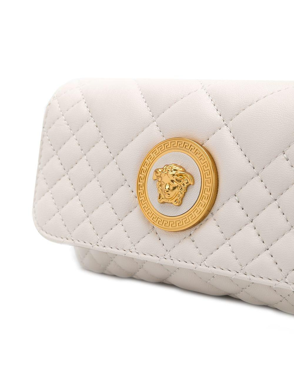 Versace Leather Icon Quilted Evening