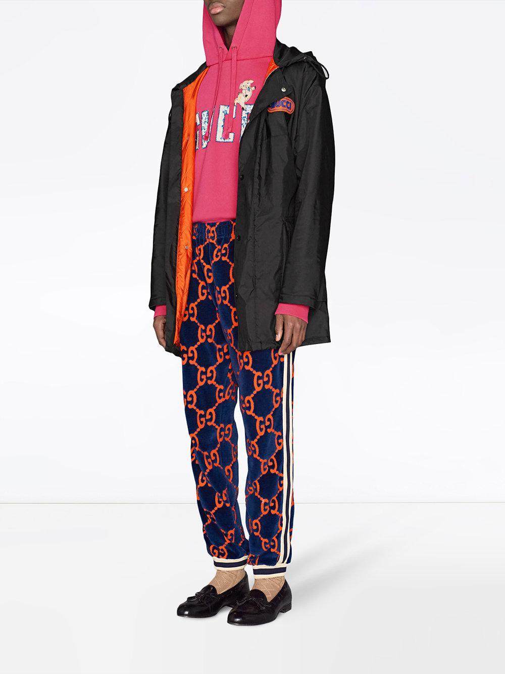 cd90e785b7e Lyst - Gucci Nylon Jacket With Sega Patch in Black for Men
