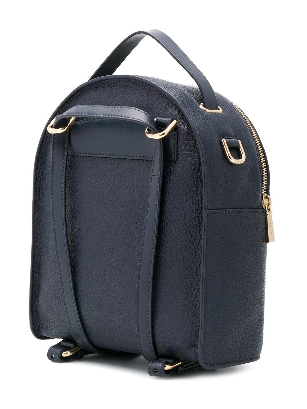MICHAEL Michael Kors Leather Mk Backpack in Blue
