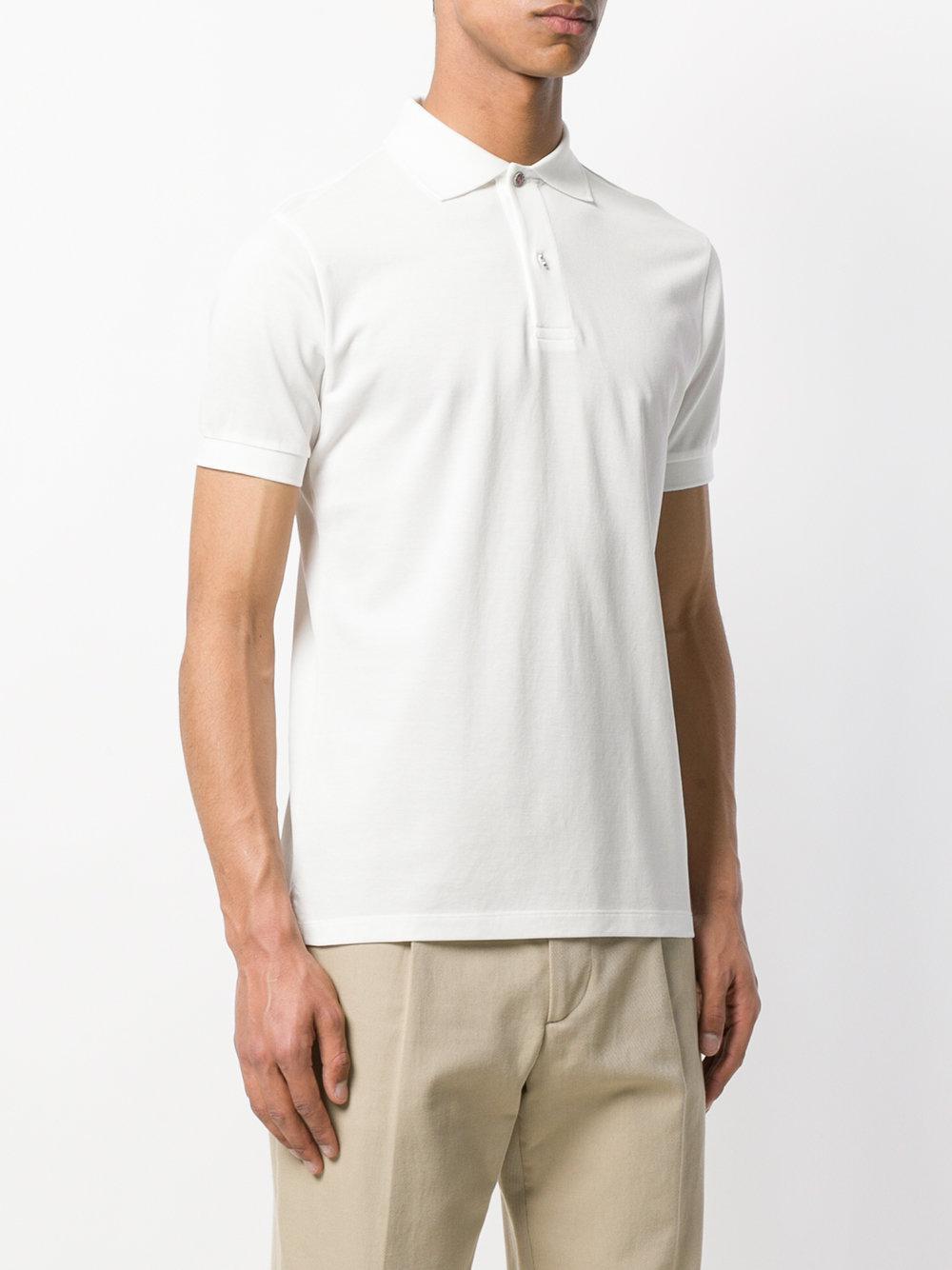 Paul Smith Cotton Charm Button Polo Shirt in White for Men