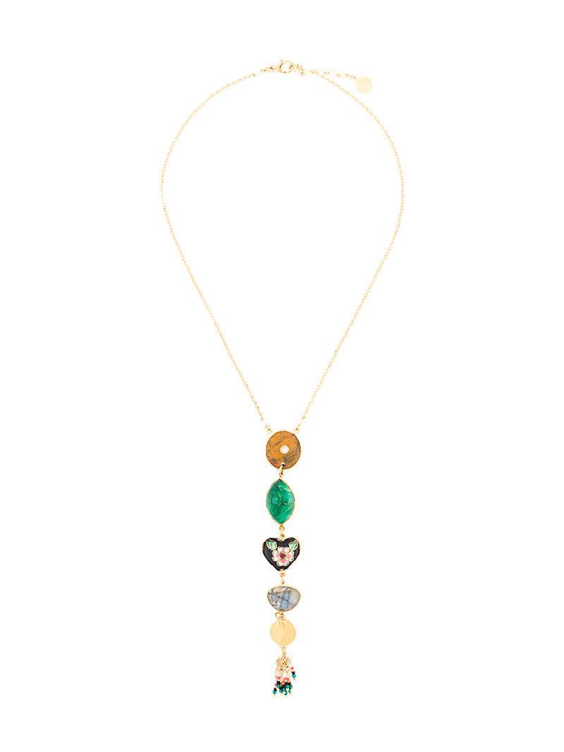 Gas Bijoux Poeme necklace - Metallic QbaD1