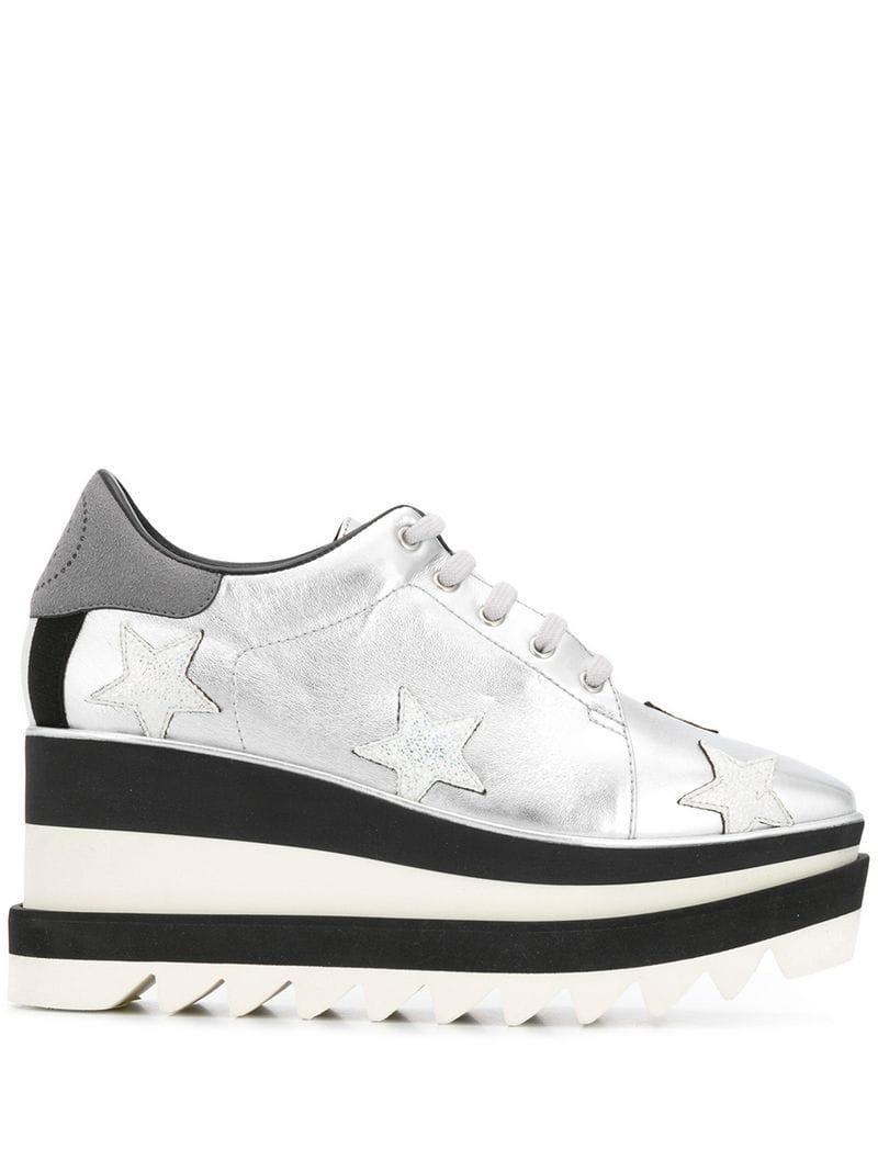 b362cdba9597 Lyst - Stella McCartney Sneak-elyse Sneakers in Metallic
