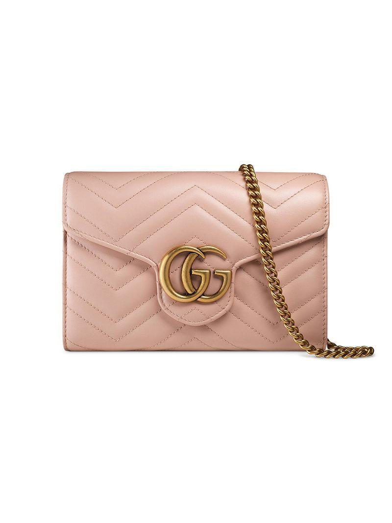 786c5ae8c51 Gucci GG Marmont Matelass   Mini Bag in Pink - Save 7% - Lyst