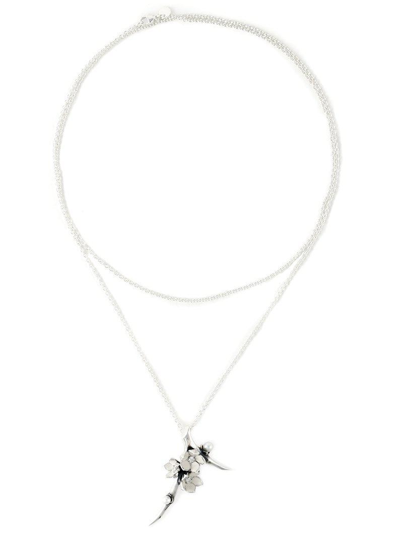 Shaun Leane Cherry Branch diamond necklace - Metallic UdJm8uo