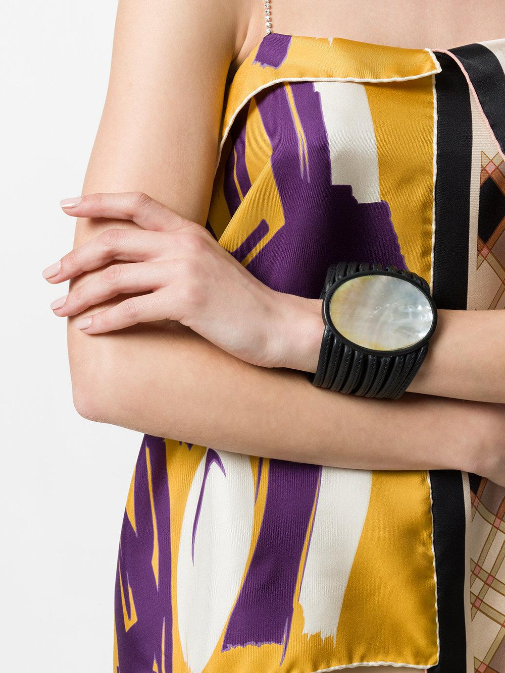 large round pendant bracelet - Black Monies KzJCrbHM