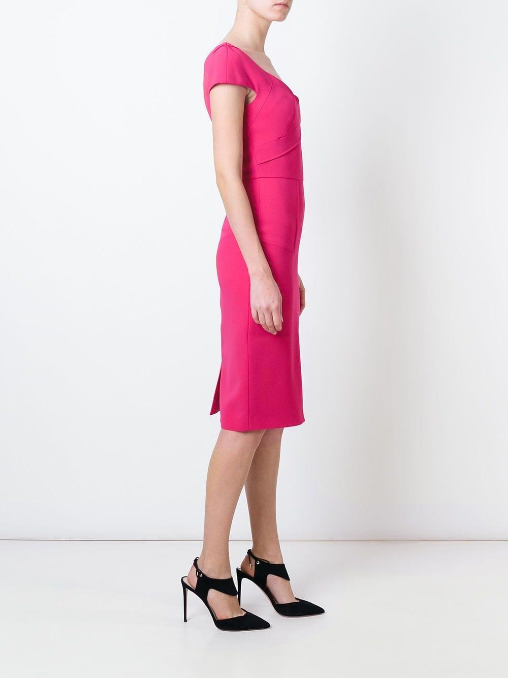 "Vestido ""Casson"" Roland Mouret de Tejido sintético de color Rosa"