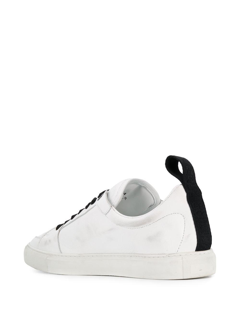 Zadig & Voltaire Leer Zv1747 Sneakers Met Contrasterende Veters in het Wit voor heren