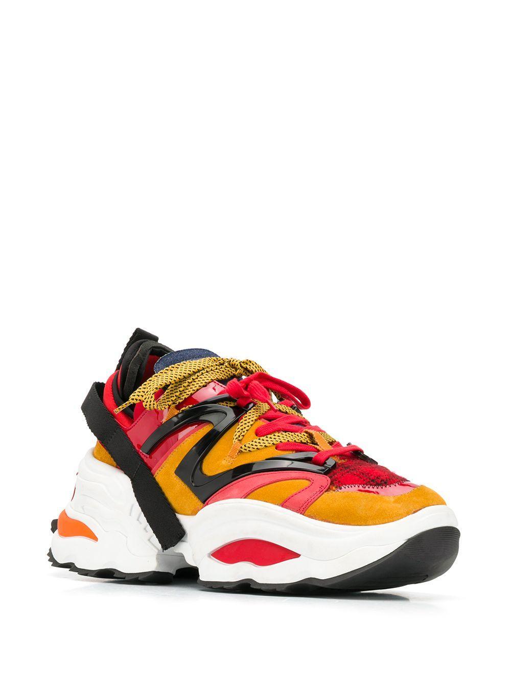 Zapatillas The Giant DSquared² de Cuero de color Naranja para hombre
