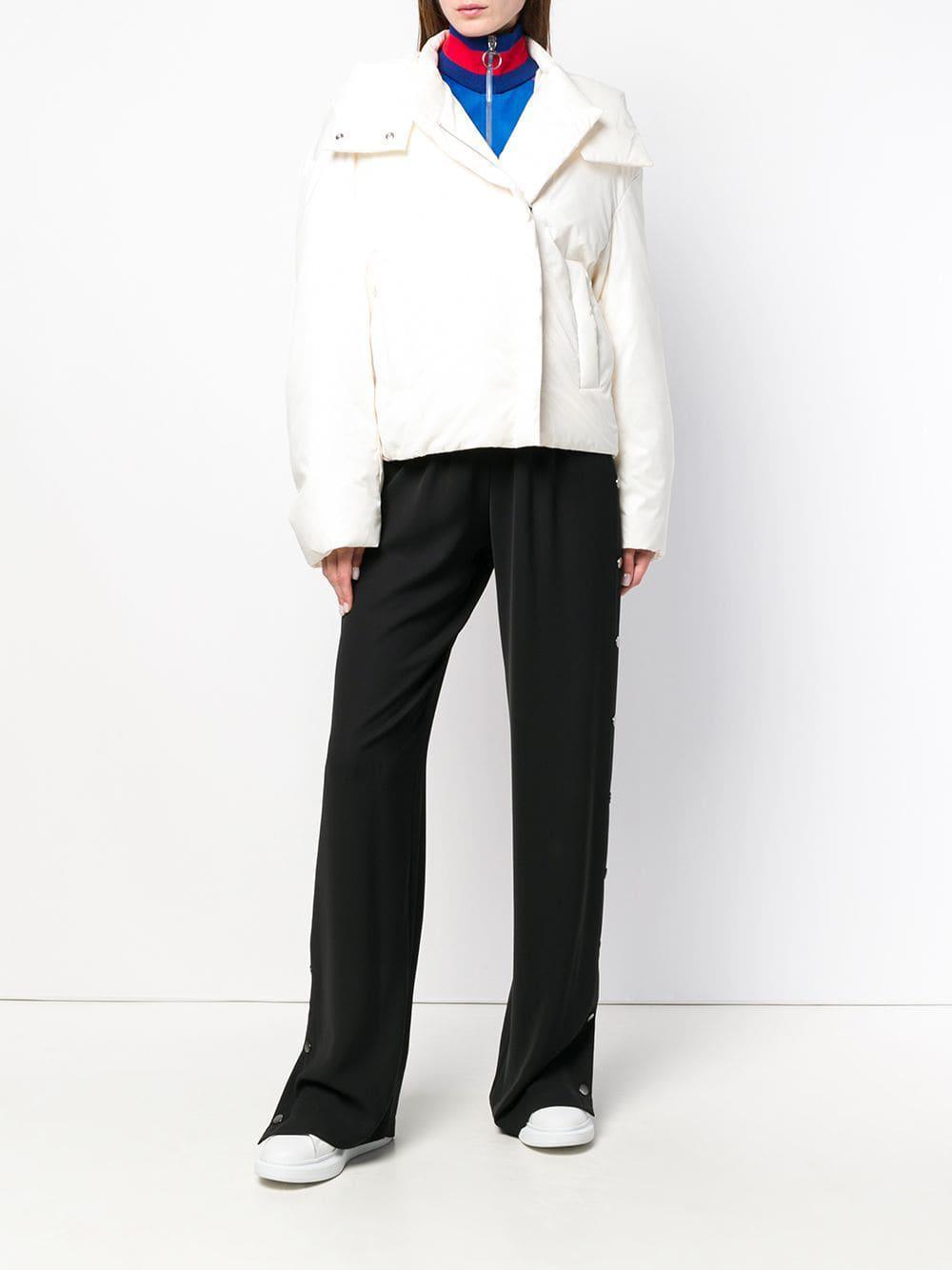 38d88fee2 Lyst - Jil Sander Hooded Down Jacket in White