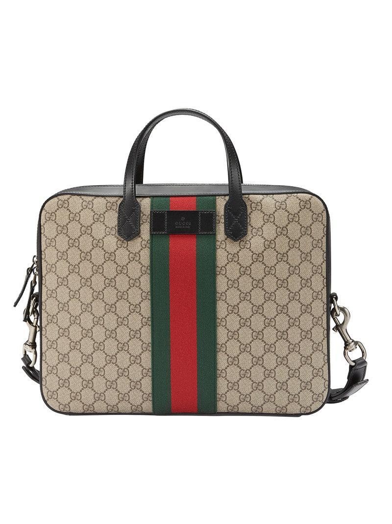 Lyst - Porte-document Web GG Supreme Gucci pour homme 9f5c774e549