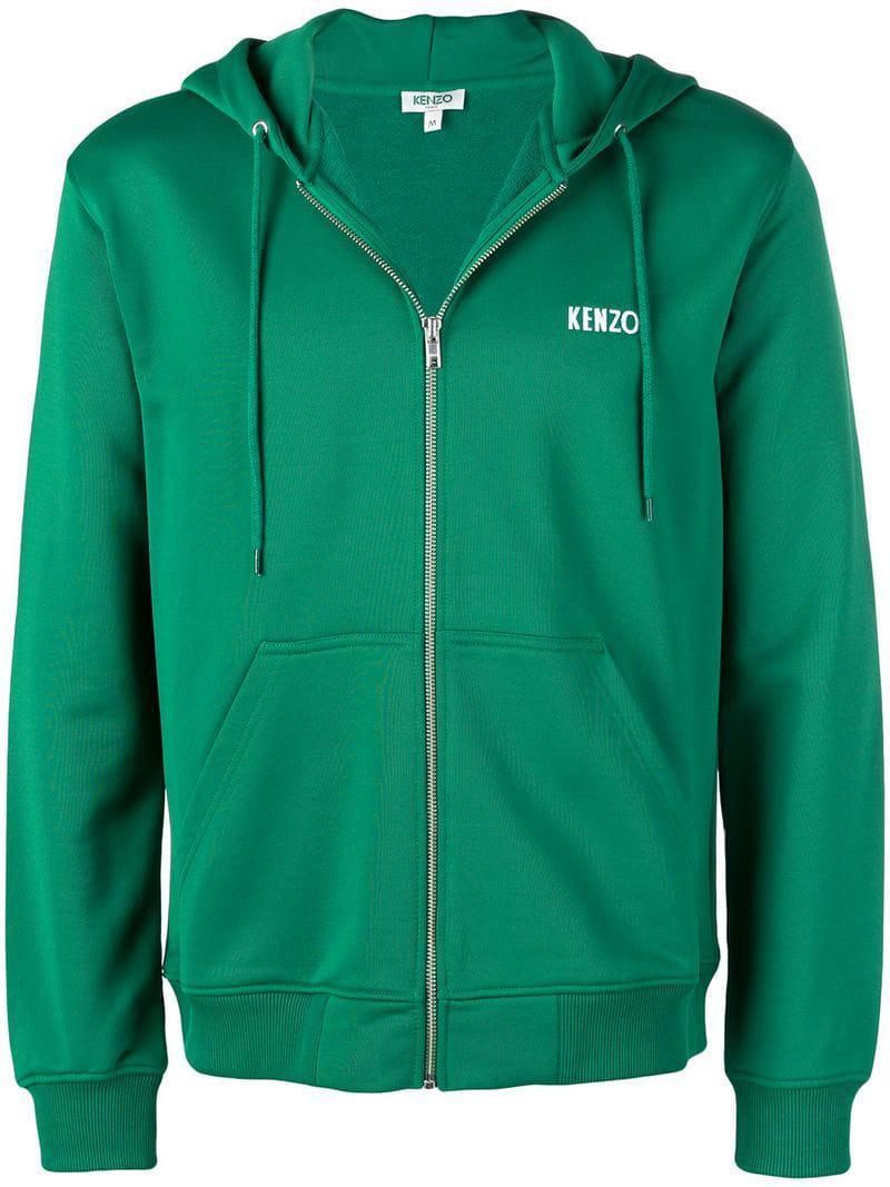 c32fbc13d KENZO Dragon Patch Full-zip Hoodie in Green for Men - Lyst