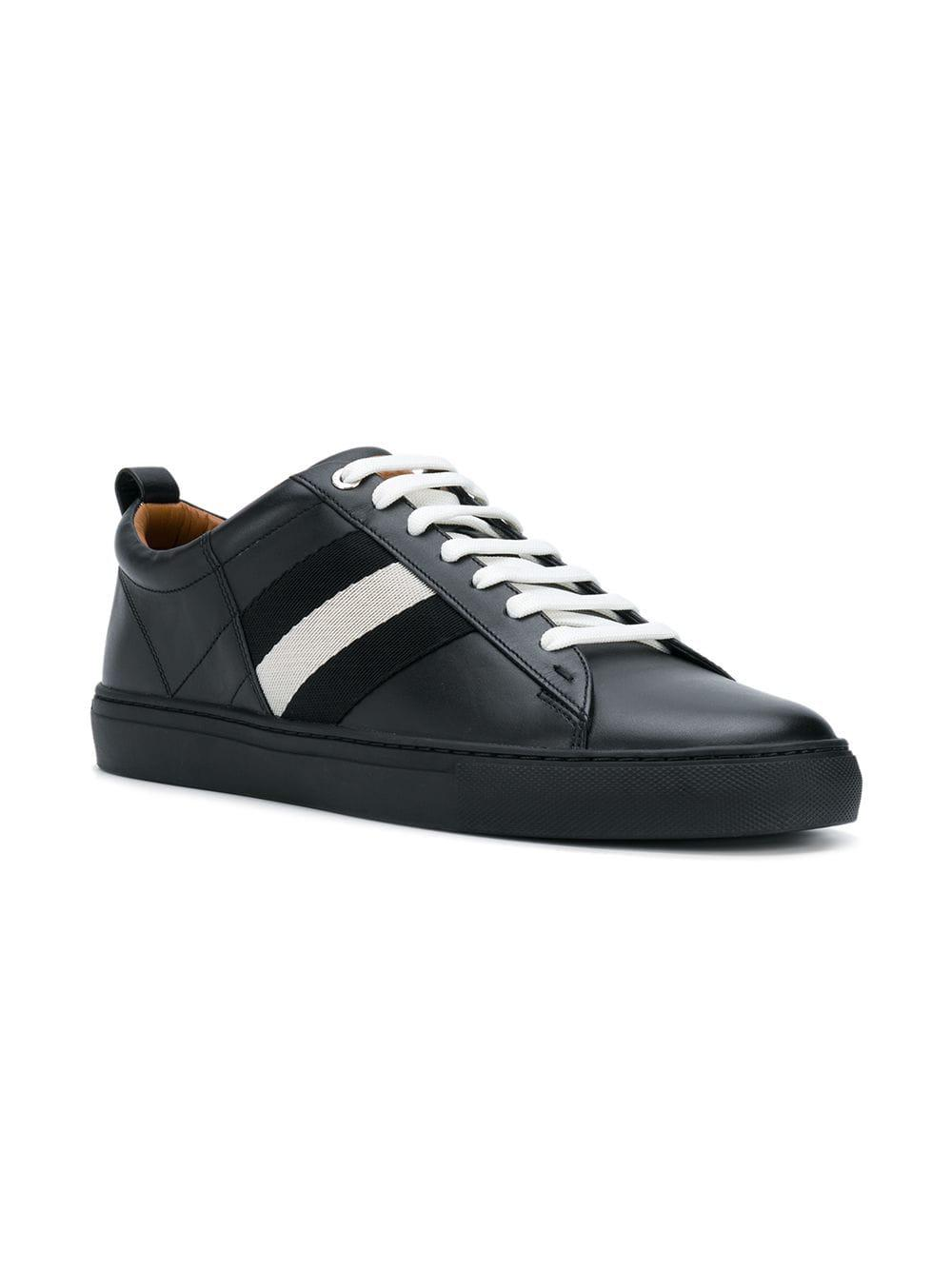 29ad0ade62 Bally - Black Contrast Lace-up Sneakers for Men - Lyst. View fullscreen